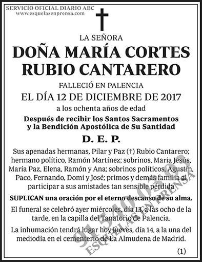María Cortes Rubio Cantarero